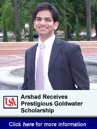 USA Engineering Student Receives Prestigious Goldwater Scholarship