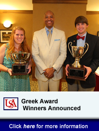 USA Announces Annual Greek Awards Winners