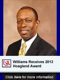 USA Professor Alvin J. Williams Receives 2013 Hoagland Award
