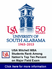 USA Mitchell MBA Students Rank Among Nation's Top Ten Percent on Major Field Exam