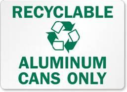 Recyclable Alumnium Cans Only
