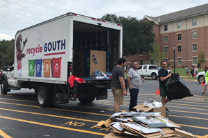 Moving Boxes at Move in Day